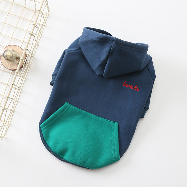 Blue And Green French Bulldog Hoodie With Zip
