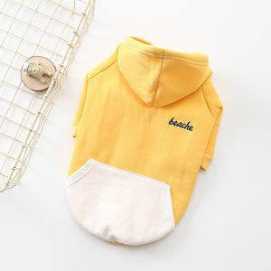 Yellow And White French Bulldog Hoodie With Zip