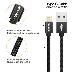 Extra Long Nylon Braided Lightning Cables 10ft 3 Pack Online Deals