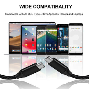 USB C to USB C Cable / Type C to Type C Cable 10ft 3 Pack