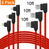 right angle lightning cable red