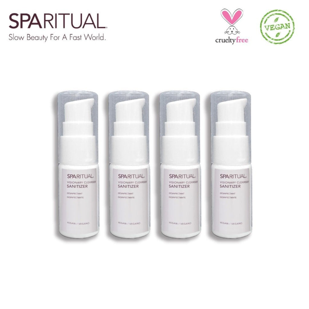 VISIONARY CLEANSER® SANITIZER TRAVEL SIZE 20ML X 4PCS - The Makeup Room