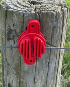 Insulator Red up to 6mm wire or polybraid