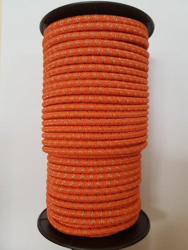 Power Bungy Hi Vis Orange, 50m, 9 S/S strands (O50)