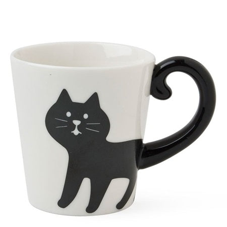 Black silhouette Cat Mug