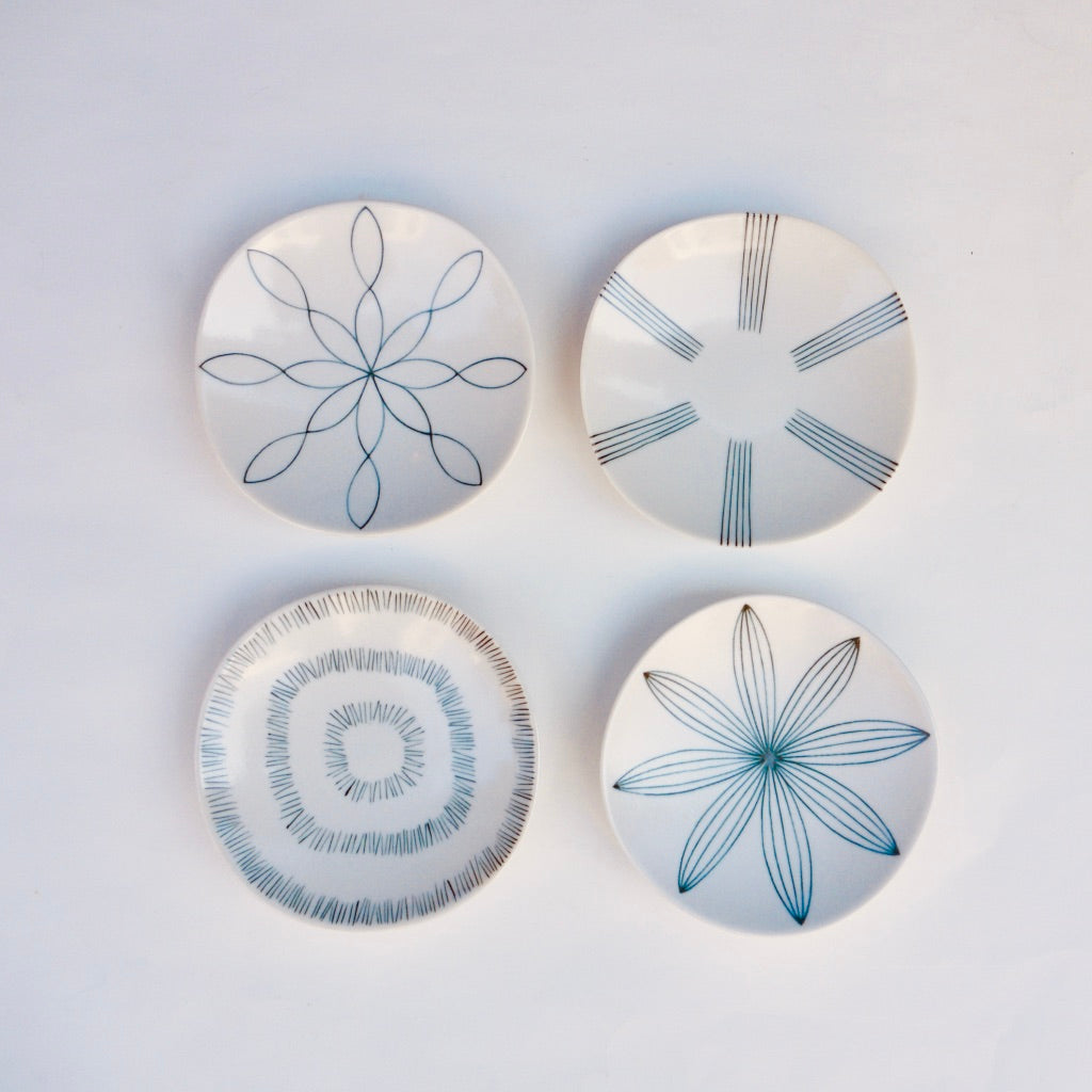 Appetizer plates set of four