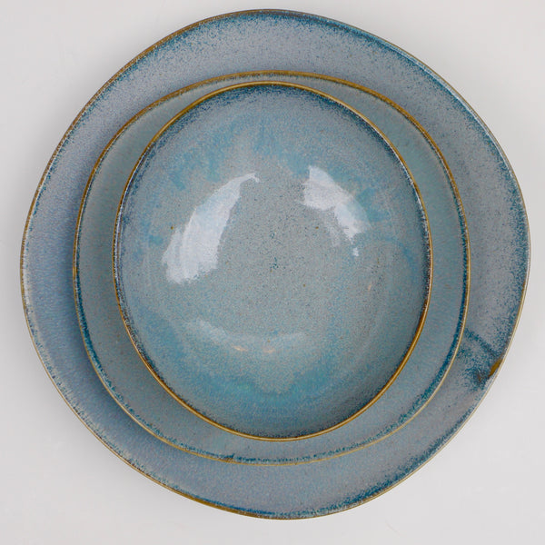 Grey Blue Fog Dinnerware