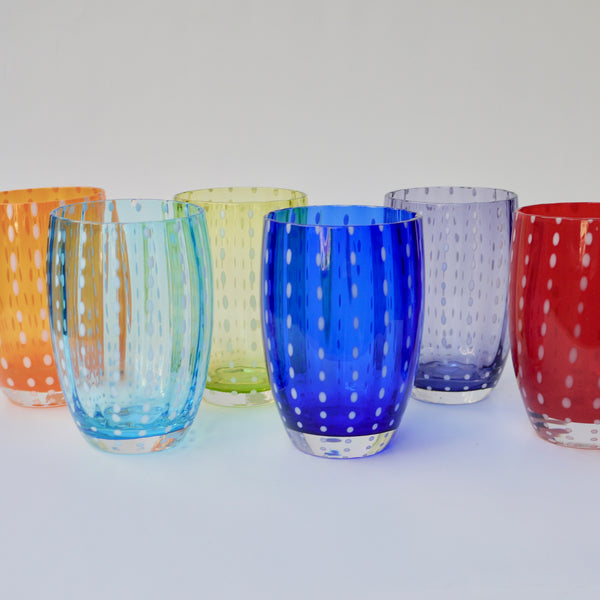 Perle Confetti Collection Glassware