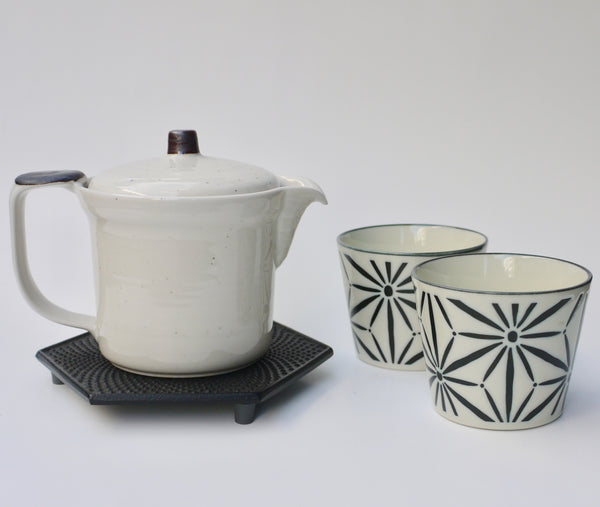 Black and White Tea set