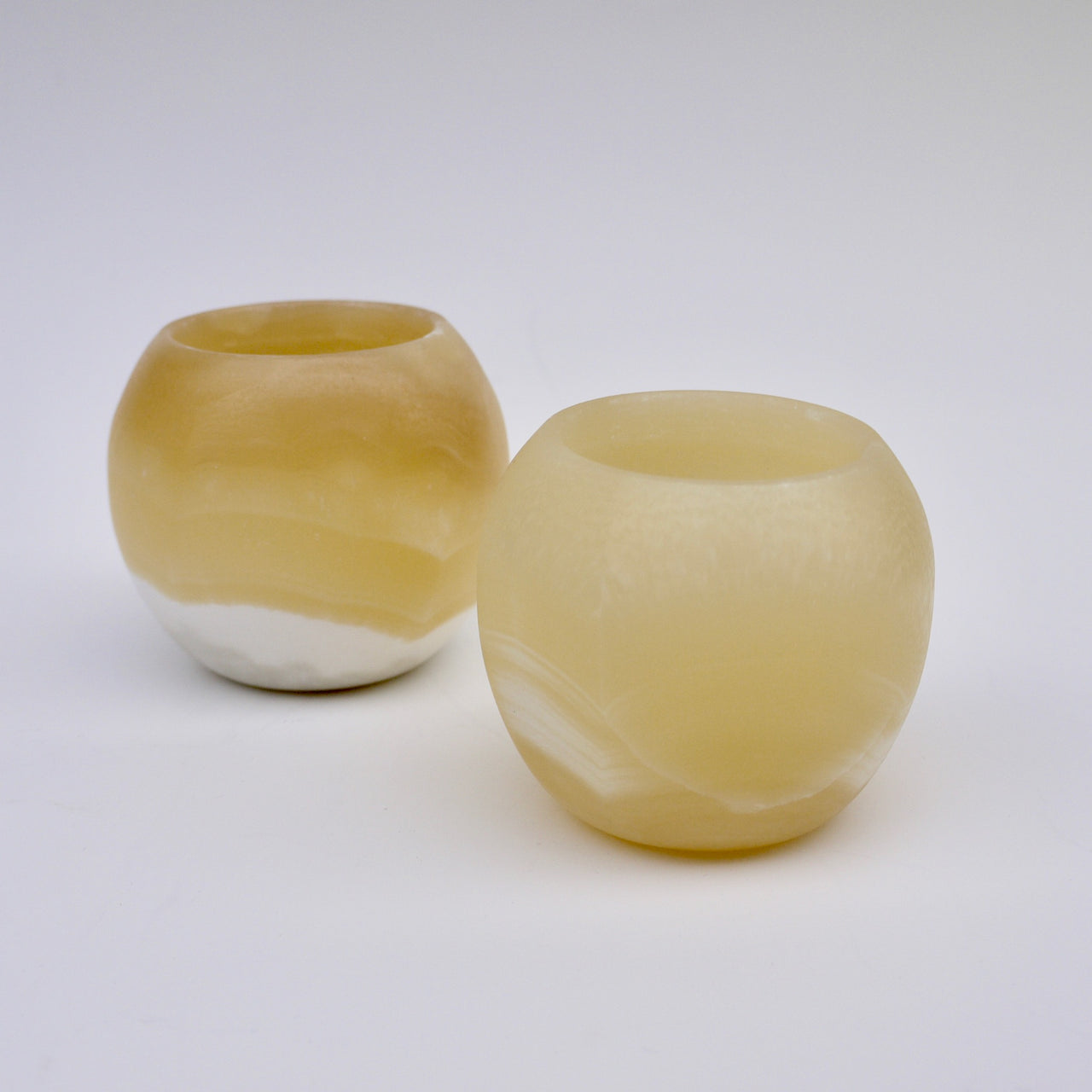 Alabaster Orb Candle Holder