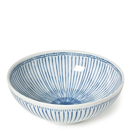 Stripes and dots everything bowl