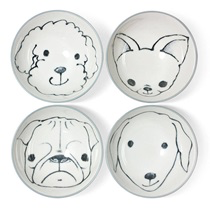 Dog bowls set of 4