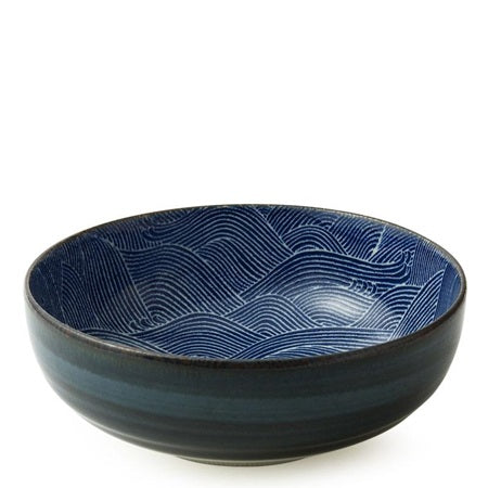 Blue Wave Serving Bowl