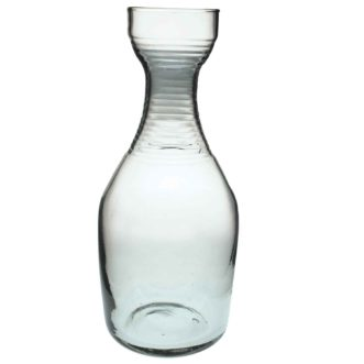 Recylcled Glass Carafe Tall