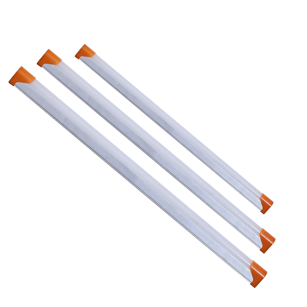 High Lumen 10, 18, 22-Watt Aluminium LED Batten (Pack of 6, White) for Office Living Room Bathroom Kitchen Garage Warehouse Shop Basement Workshop Cabinet