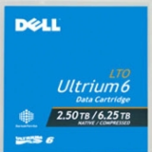 Dell 03W22T LTO-6 Ultrium Tape Media (2.5TB/6.25TB) Capacity LTO6 Data Cartridge