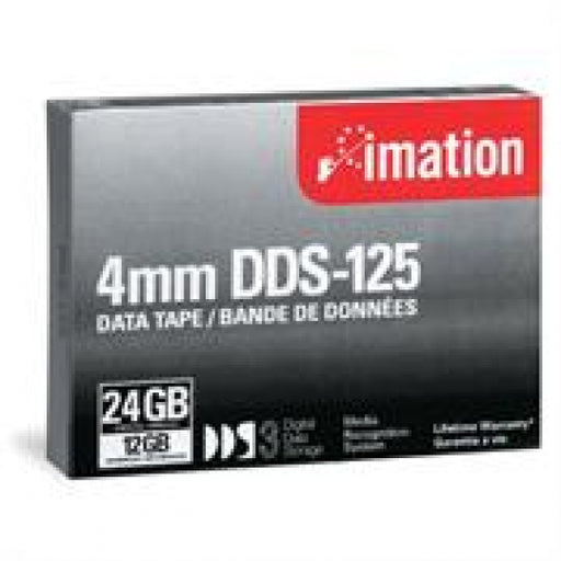 Imation 11737 4mm DDS-3 Backup Tape Cartridge (12GB/24GB 125m) Retail Pack