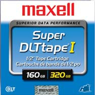 Maxell 160GB/320GB SDLT-1 Backup Tape  (Retail Packaging)