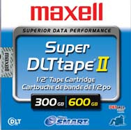 Maxell 300GB/600GB SDLT-II Backup Tape (Retail Packaging)