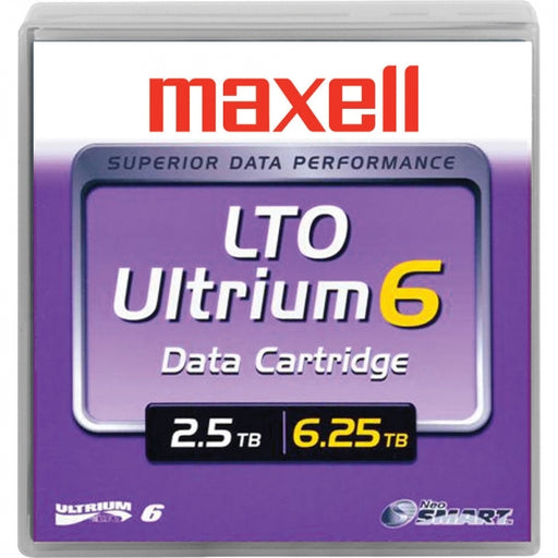 Maxell 229558 LTO Ultrium 6 Tape Cartridge - 2.5TB/6.25TB (MP)