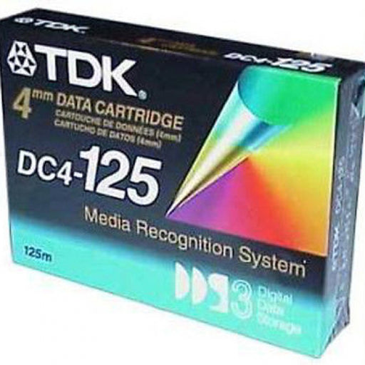 TDK 27520 4mm DDS-3 (DC4-125) Backup Tape Cartridge (12GB/24GB 125m Retail Pack)