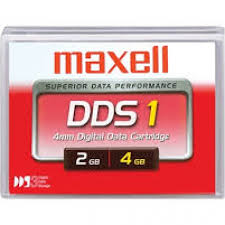 Maxell 331910 4mm DDS-1 Backup Tape Cartridge (2GB/4GB 90m Retail Pack)