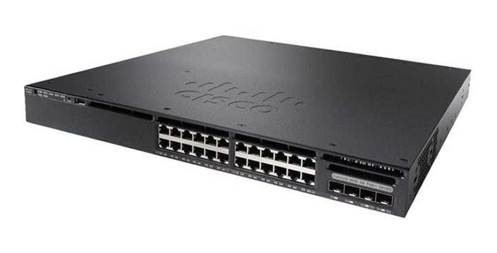 Cisco Catalyst WS-C3650-24PWS-S 3650 24 Port PoE 4x1G Uplink w/5 AP licenses IPB