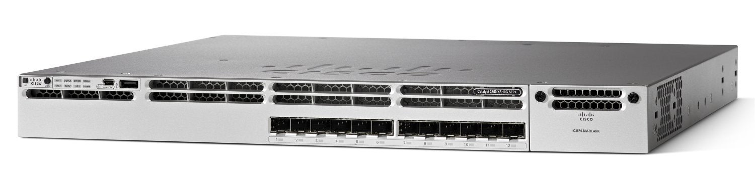 Cisco Catalyst WS-C3850-12XS-S 3850 12 Port 10G Fiber Switch IP Base
