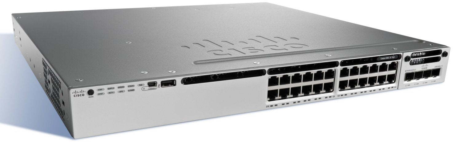 Cisco Catalyst WS-C3850-24P-E 3850 24 Port PoE IP Services