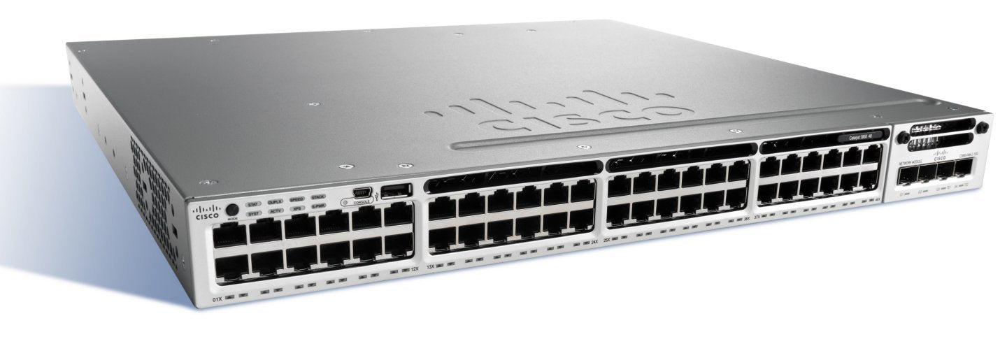 Cisco Catalyst WS-C3850-48XS-F-E 3850 48 Port 10G Fiber Switch IP Services