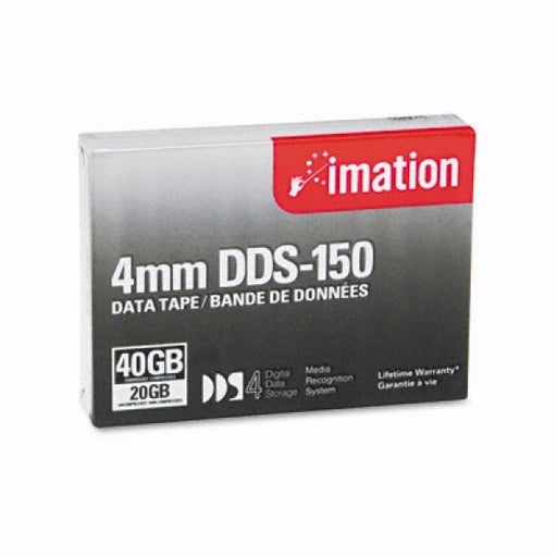Imation 40963 4mm DDS-4 Backup Tape Cartridge (20GB/40GB 150m Retail Pack)