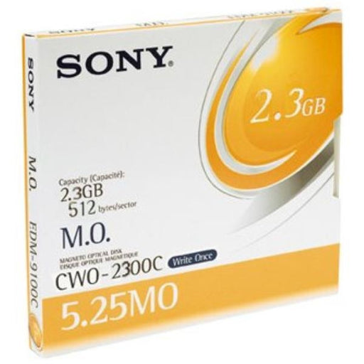 "Sony 2.3GB WORM 4X 5.25"" Magneto Optical Disk"