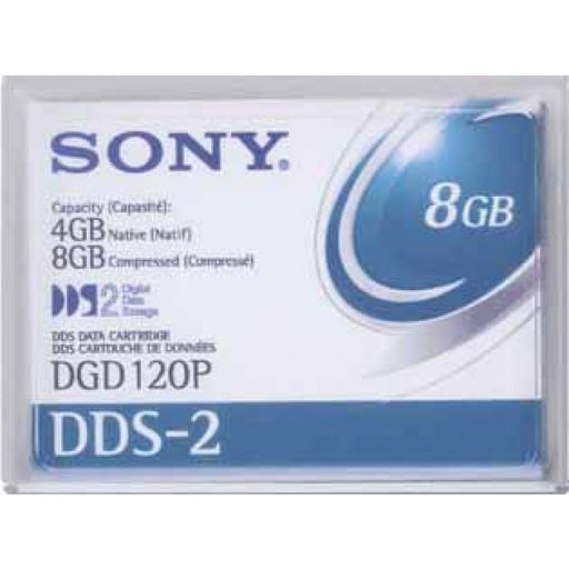 Sony DGD-120P 4mm DDS-2 Backup Tape Cartridge (4GB/8GB Retail Pack)