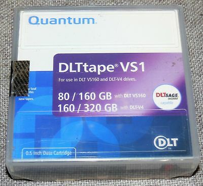 Quantum DLT-VS1 80GB/160GB, DLT-V4 160GB/320GB Backup Tape (Retail packaging)