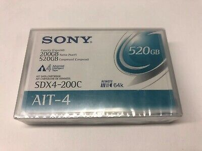 Sony SDX4200CWW AIT-4 Backup Tape Cartridge (200GB/520GB Retail Pack)