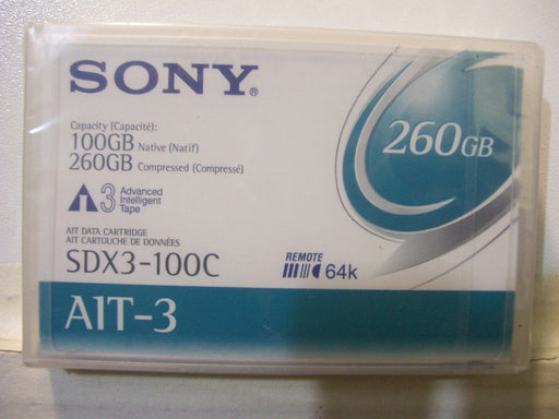 Sony SDX3-100C AIT-3 Backup Tape Cartridge (100GB/260GB Retail Pack)
