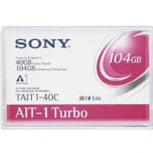 Sony TAIT1-40C AIT-1 Turbo Backup Tape Cartridge (40GB/104GB Retail Pack)