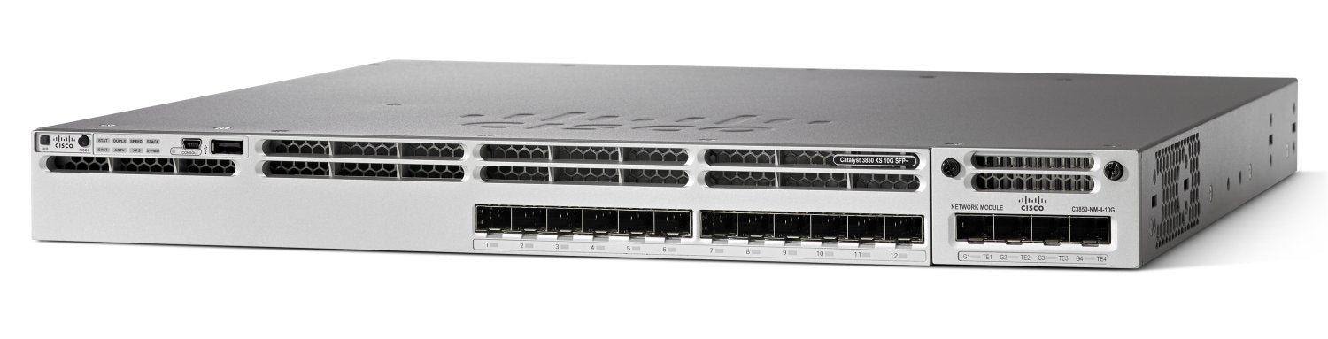 Cisco Catalyst WS-C3850-16XS-E 3850 16 Port 10G Fiber Switch IP Services