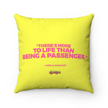 Load image into Gallery viewer, Little Rebels | Amelia Earhart Quote Spun Polyester Square Pillow
