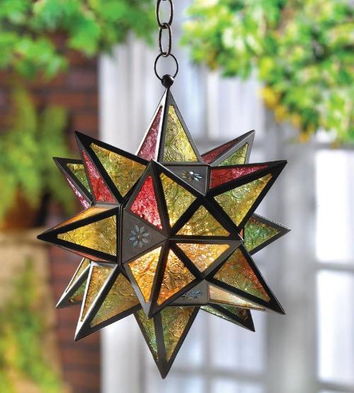 Moroccan-Style Star Lantern - 2 Colors