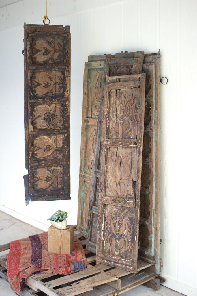 Antique Wooden Door Panel Wall Art