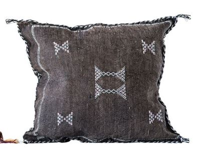 Hand-Loomed Cactus Silk & Cotton Pillow - 4 Colors