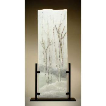 Snow Fence Glass Frit Painting