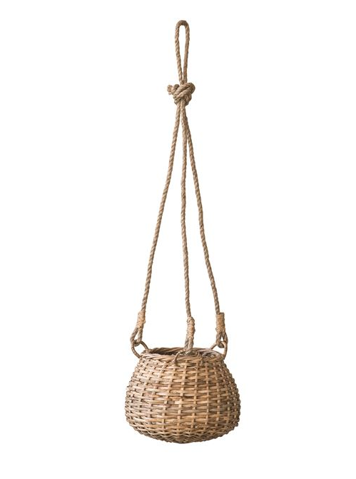 Hand-Woven Hanging Rattan Basket - 2 Styles