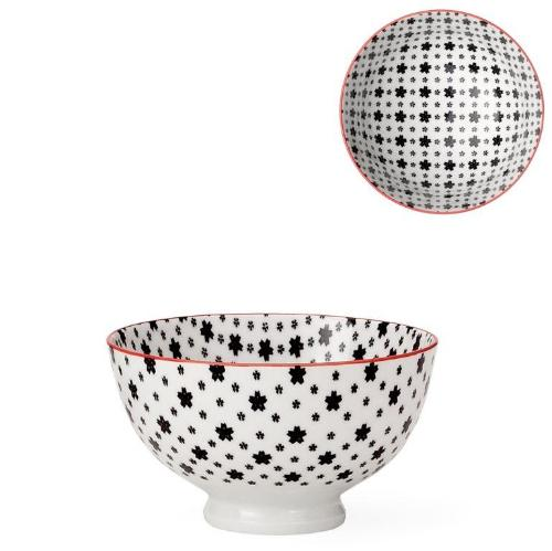 Kiri Porcelain Black Daisies Bowl - 3 Sizes