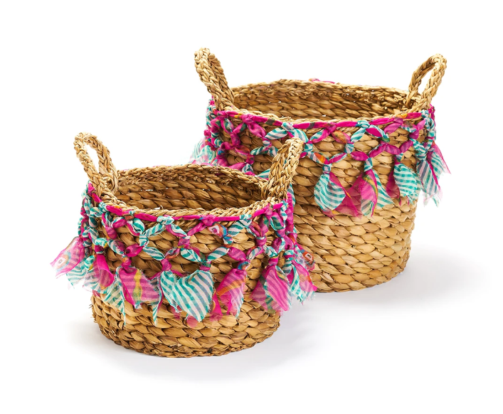 Sari Macrame Baskets - 2 Sizes