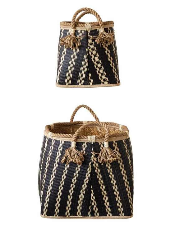 Wicker Baskets with Rope Handles - 2 Sizes