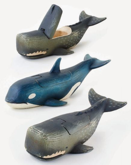 Wooden Whale Box - 2 Styles