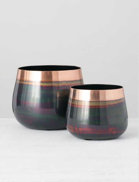 Reflective Metallic Planter - 2 Sizes