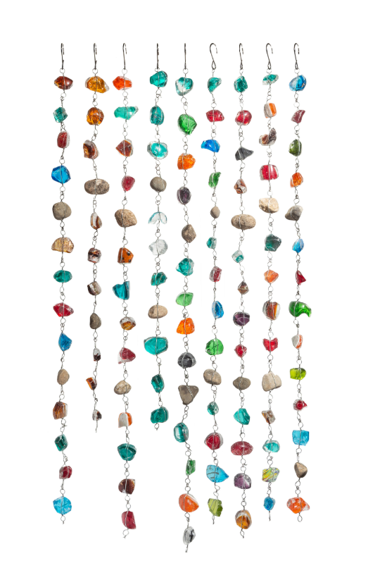 Art Glass Rock Rain Chain